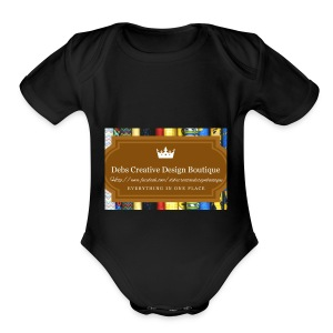 Debs Creative Design Boutique with site - Short Sleeve Baby Bodysuit