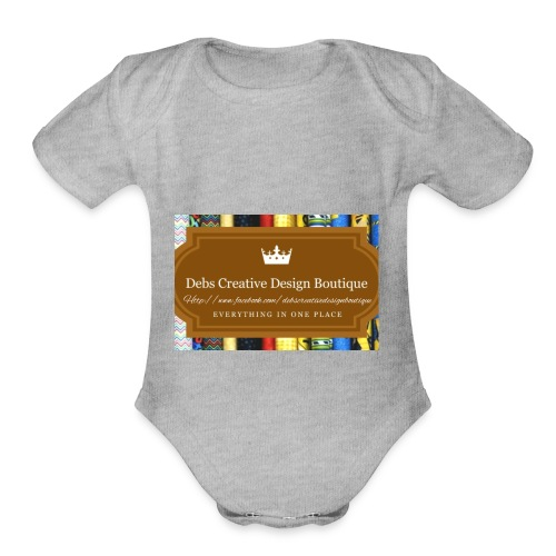Debs Creative Design Boutique with site - Organic Short Sleeve Baby Bodysuit