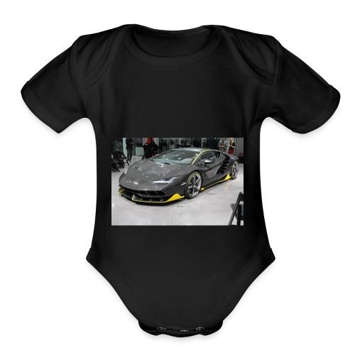 lambo shirt limeted - Organic Short Sleeve Baby Bodysuit