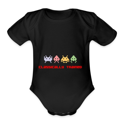 80s Video Games - Organic Short Sleeve Baby Bodysuit