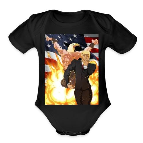 Trumps stand - Organic Short Sleeve Baby Bodysuit
