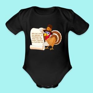 Thanksgiving Turkey - Short Sleeve Baby Bodysuit