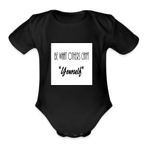 Be Yourself - Short Sleeve Baby Bodysuit