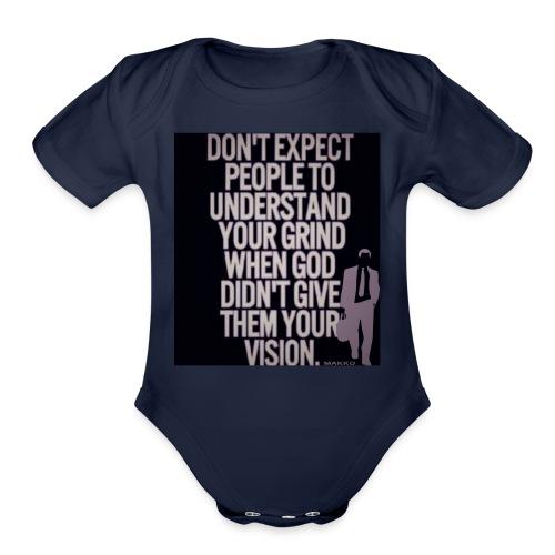 HUSTLE 10 - Organic Short Sleeve Baby Bodysuit
