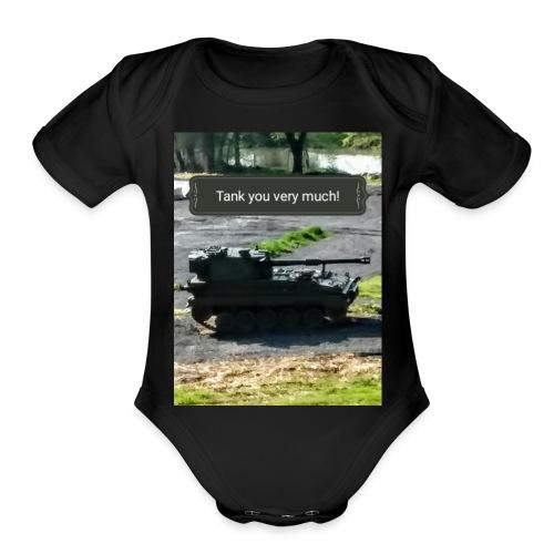 Tank you shirt. - Organic Short Sleeve Baby Bodysuit