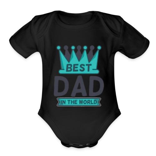 dad - Organic Short Sleeve Baby Bodysuit