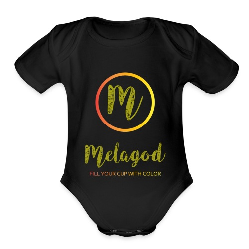 MelaGod - Organic Short Sleeve Baby Bodysuit