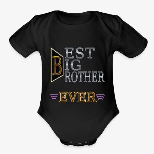 BEST Brother Shirt Big brother - Organic Short Sleeve Baby Bodysuit