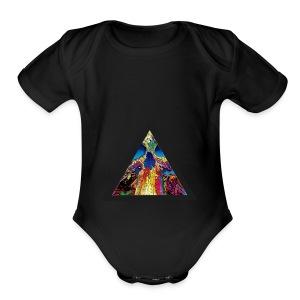 collapse - Short Sleeve Baby Bodysuit