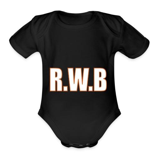 LOGOWORD2 - Organic Short Sleeve Baby Bodysuit