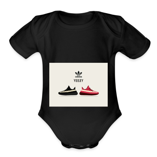 yeezy 350 vector s59 - Organic Short Sleeve Baby Bodysuit