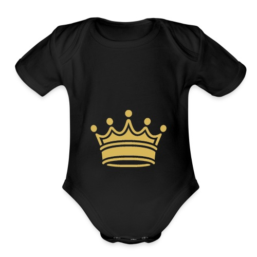 Feeling Like King. - Organic Short Sleeve Baby Bodysuit