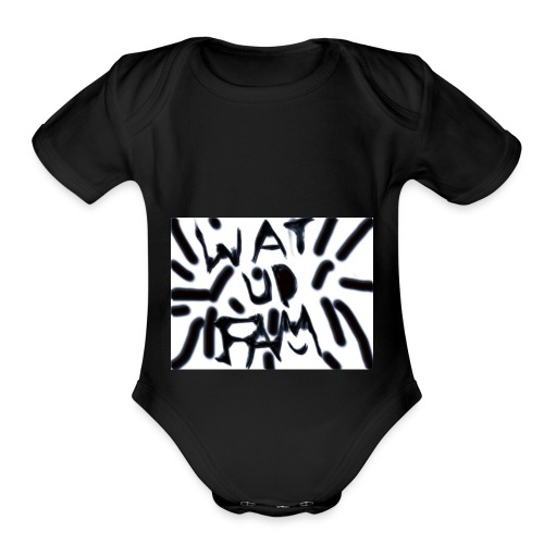 WAT UP FAM - Organic Short Sleeve Baby Bodysuit