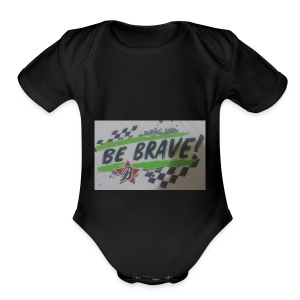The be brave shirt - Short Sleeve Baby Bodysuit