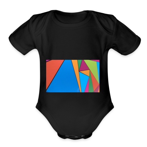 Colorful Geometry - Organic Short Sleeve Baby Bodysuit
