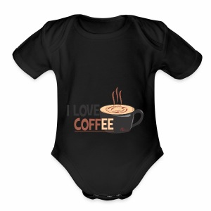 coffee - Short Sleeve Baby Bodysuit