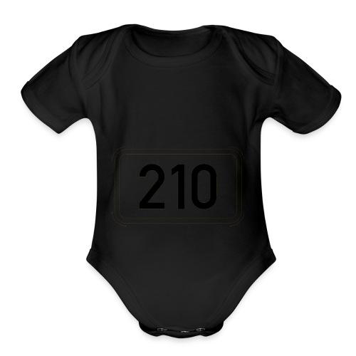 210 - Organic Short Sleeve Baby Bodysuit