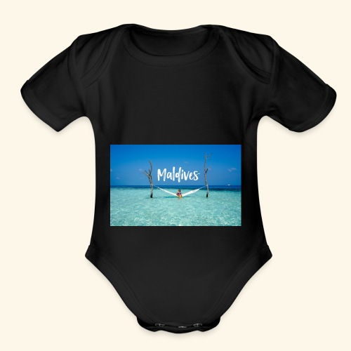 Maldives - Organic Short Sleeve Baby Bodysuit