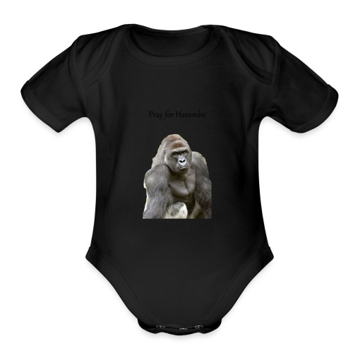 Pray for Harambe - Organic Short Sleeve Baby Bodysuit