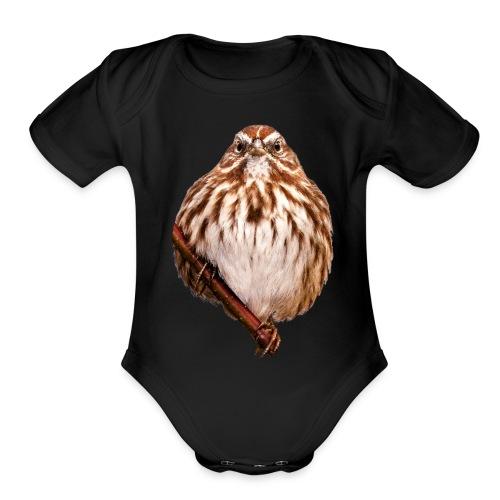 Grumpy Bird - Organic Short Sleeve Baby Bodysuit