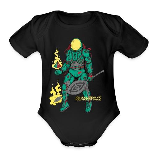 Afronaut - Organic Short Sleeve Baby Bodysuit