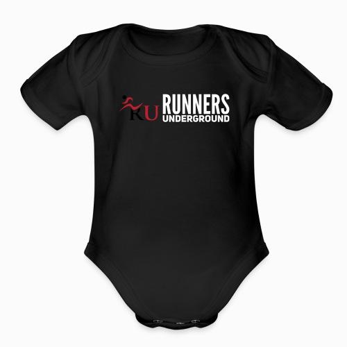 Runners Underground Logo W - Organic Short Sleeve Baby Bodysuit