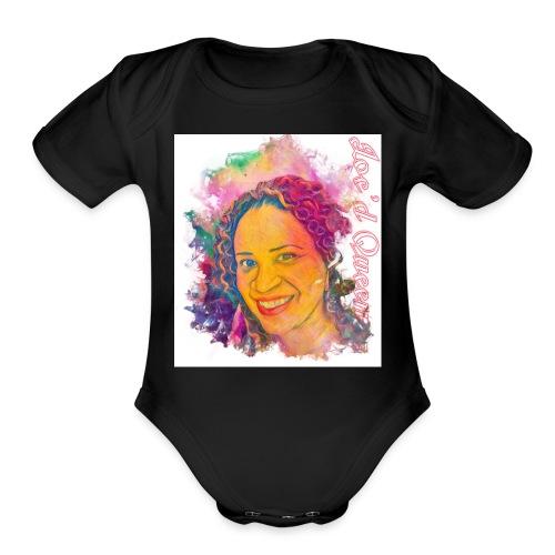 Loc'd Queen - Organic Short Sleeve Baby Bodysuit