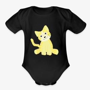 cute kitty - Short Sleeve Baby Bodysuit