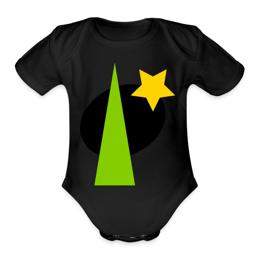 geometric design - Organic Short Sleeve Baby Bodysuit