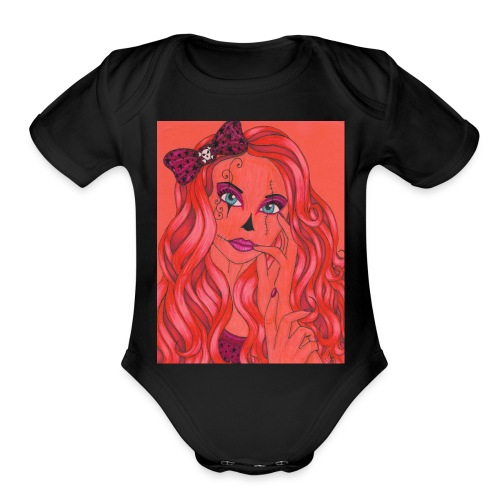 lady of the night - Organic Short Sleeve Baby Bodysuit