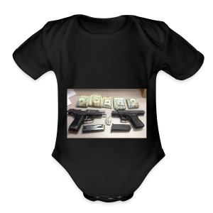 the real deal - Short Sleeve Baby Bodysuit