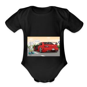 evo and sonic - Short Sleeve Baby Bodysuit