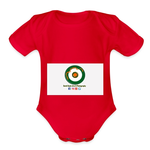 David Doyle Arts & Photography Logo - Organic Short Sleeve Baby Bodysuit