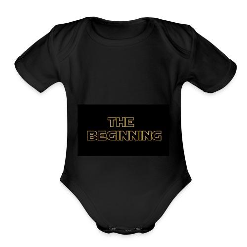 The biginning - Organic Short Sleeve Baby Bodysuit