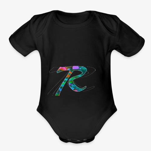 R Hoodie - Organic Short Sleeve Baby Bodysuit