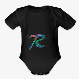 R Hoodie - Short Sleeve Baby Bodysuit