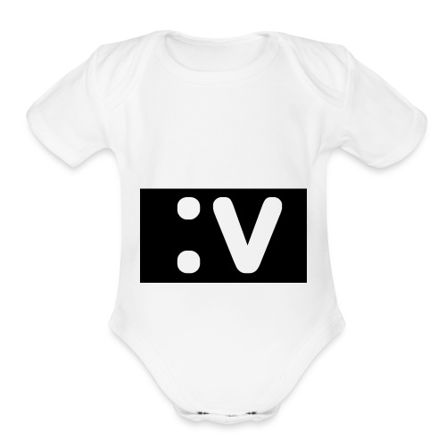 LBV side face Merch - Organic Short Sleeve Baby Bodysuit