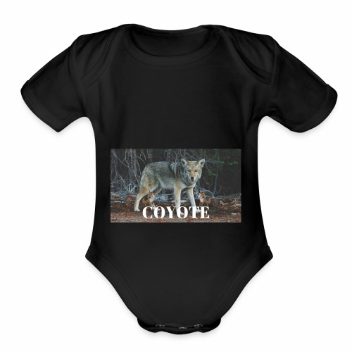 COYOTE - Organic Short Sleeve Baby Bodysuit