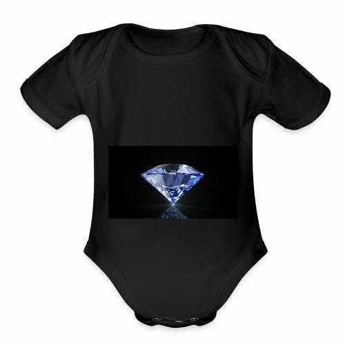 Diamond jewelry - Organic Short Sleeve Baby Bodysuit