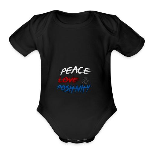 PL&P Logo - Organic Short Sleeve Baby Bodysuit