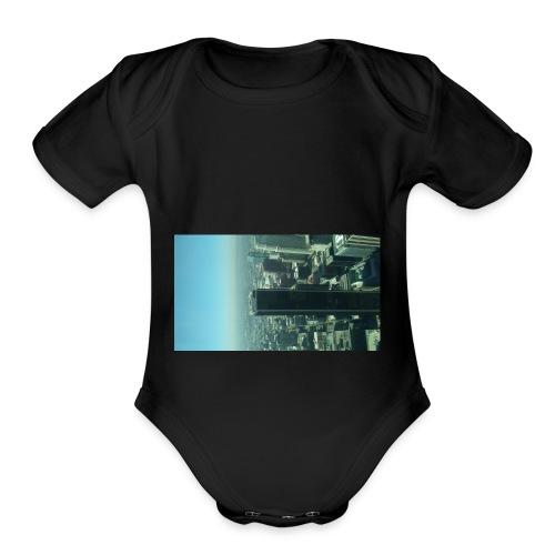 1006171153LA - Organic Short Sleeve Baby Bodysuit