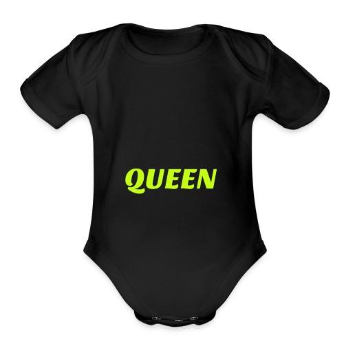 QUEEN - Organic Short Sleeve Baby Bodysuit
