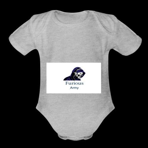 savage hoddie - Organic Short Sleeve Baby Bodysuit