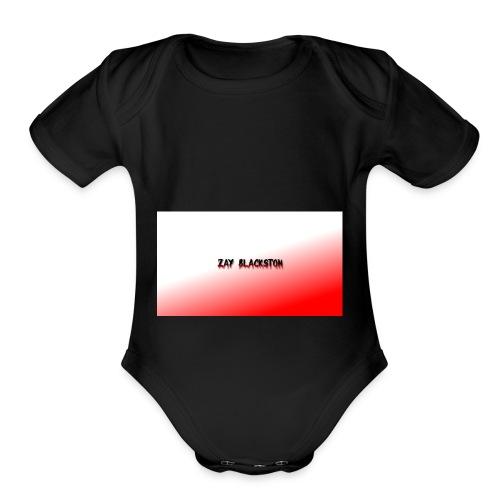 zay blackston drippy - Organic Short Sleeve Baby Bodysuit