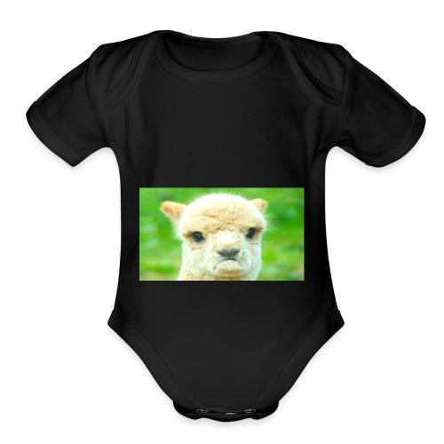 LLAMA GOAT merchandise - Organic Short Sleeve Baby Bodysuit
