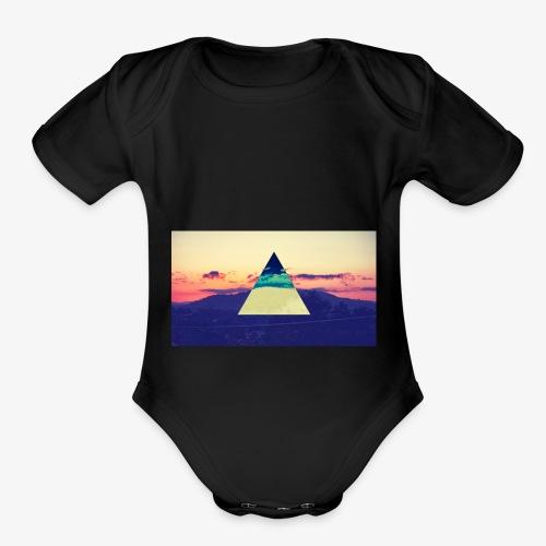 galaxy sweatshirt - Organic Short Sleeve Baby Bodysuit
