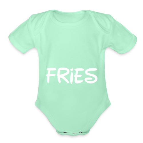 fries with heart - Organic Short Sleeve Baby Bodysuit