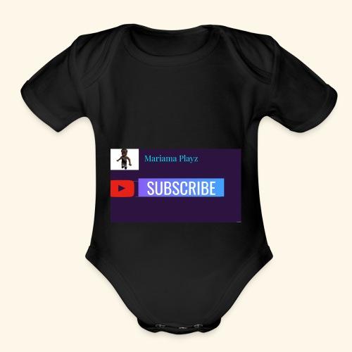 Mariama Playz Merch - Organic Short Sleeve Baby Bodysuit