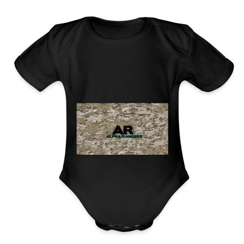 Alpha Ranger Apperal - Organic Short Sleeve Baby Bodysuit