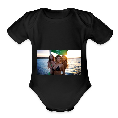 Yacht-hop - Organic Short Sleeve Baby Bodysuit